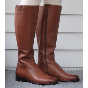 Cole Haan tall brown leather boots - 10.5b